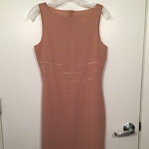 Vintage Parallel Women Sexy Nude Sequins Dress S